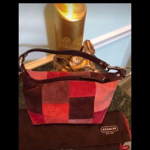 Coach Suede👛Purse! Multicolor!Never Used! Gift!